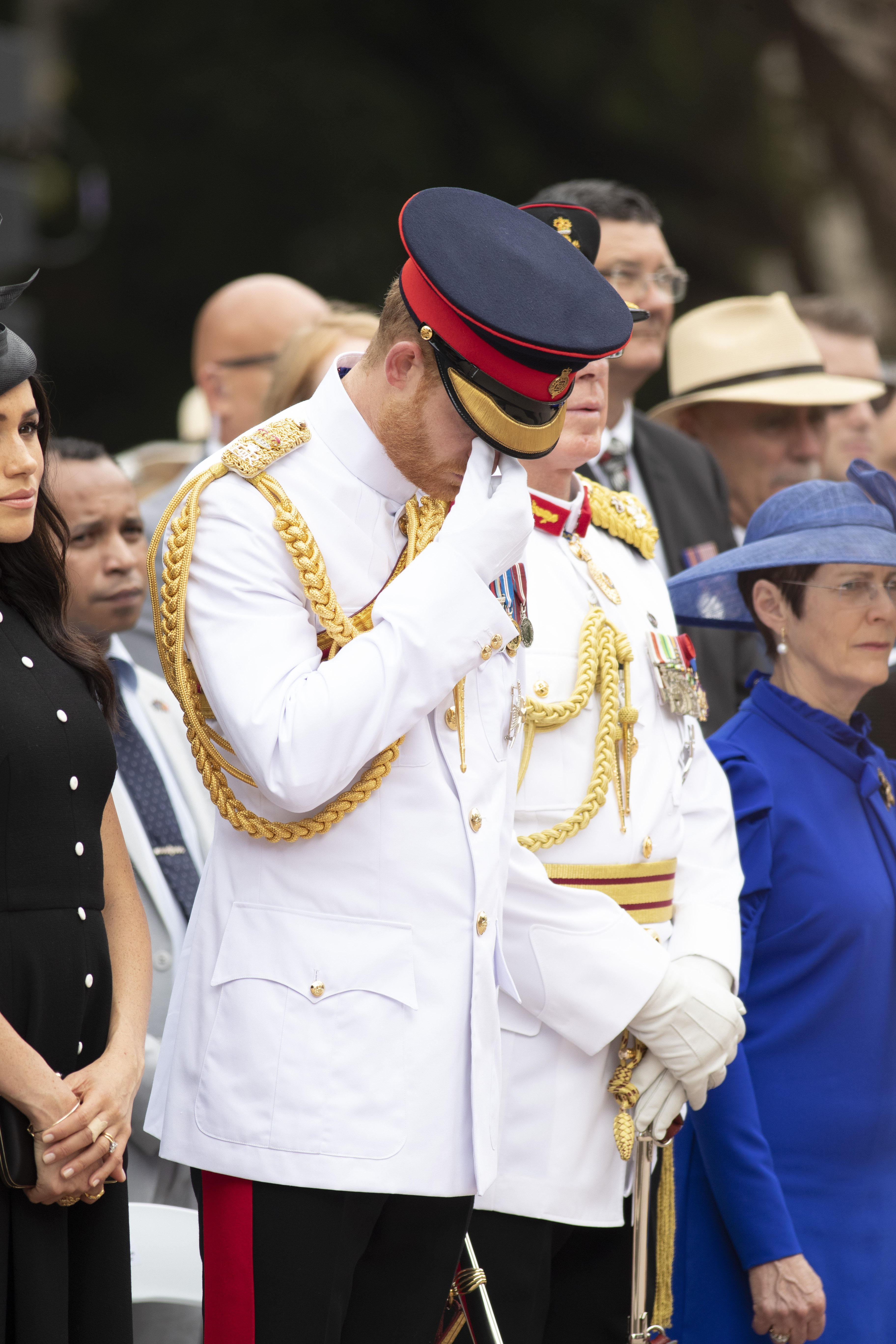 Image Credits: Getty Images / Ian Vogler - Pool   Prince Harry, Duke of Sussex and Meghan, Duchess of Sussex attend the Official opening of ANZAC Memorial in Hyde Park, on October 20, 2018 in Sydney, Australia. The Duke and Duchess of Sussex are on their official 16-day Autumn tour visiting cities in Australia, Fiji, Tonga and New Zealand.