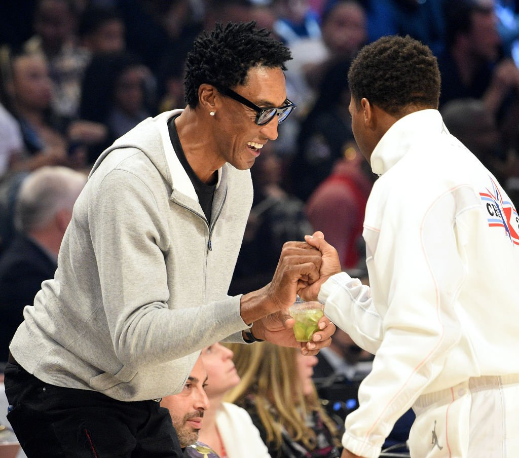 Image Credits: Getty Images / Kevin Mazur | Scottie Pippen attends the 69th NBA All-Star Game at United Center on February 16, 2020 in Chicago, Illinois.