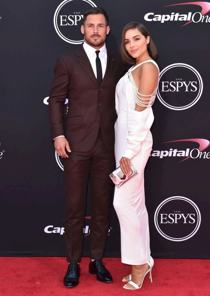 Image Credit: Getty Images/FilmMagic/Axelle/Bauer-Griffin | Danny Amendola and actress Olivia Culpo arrive at the 2017 ESPYS