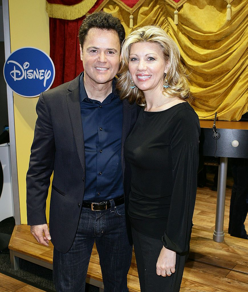 "Donny Osmond and his wife Debbie Osmond attend ""Dance Star Mickey"" at the Mattel Inc. Showroom, 2010/Photo:Getty Images"
