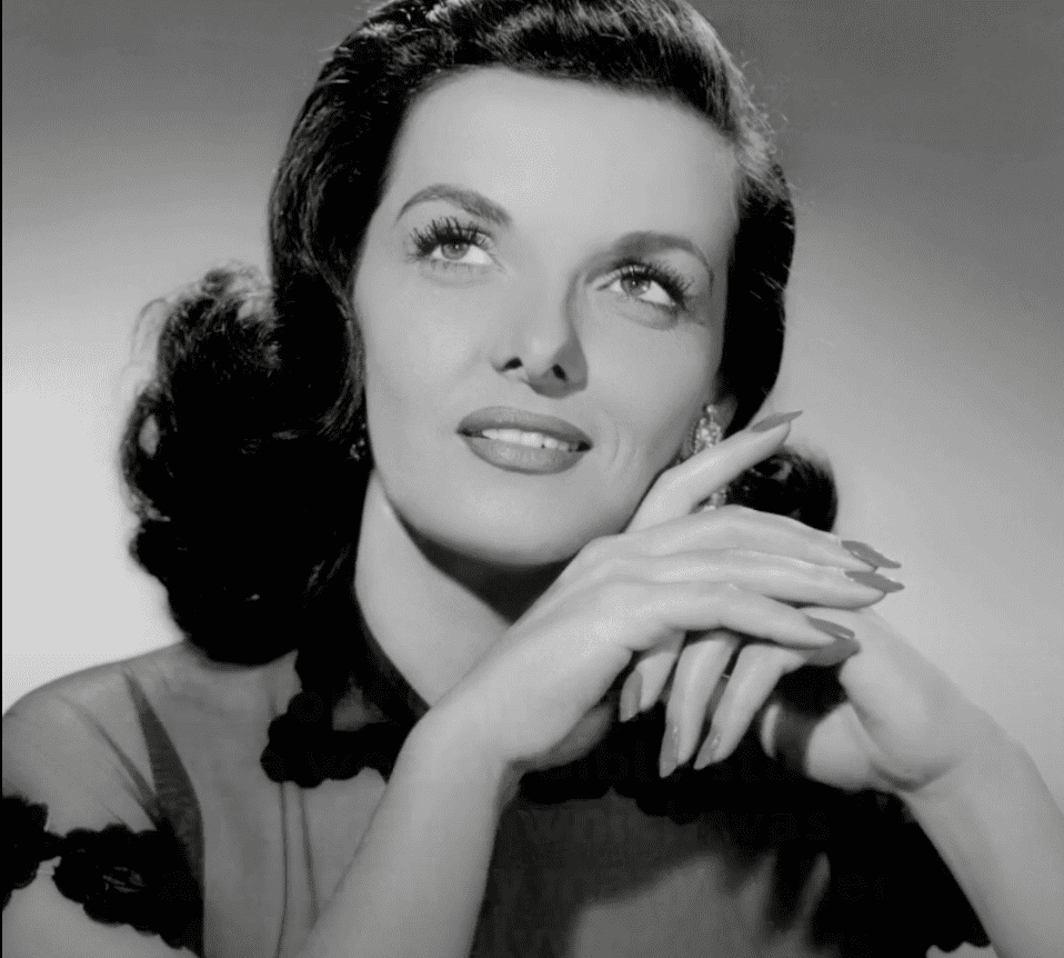 Image Source: Youtube/Cladrite Radio/Portrait of Jane Russell