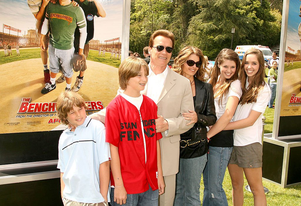 "Image Credits: Getty Images / Jeffrey Mayer / WireImage | Arnold Schwarzenegger, Maria Shriver and family during ""The Benchwarmers"" Los Angeles Premiere - Arrivals and Baseball Game at Sunset Canyon Recreation Center - UCLA Campus in Los Angeles, California, United States."