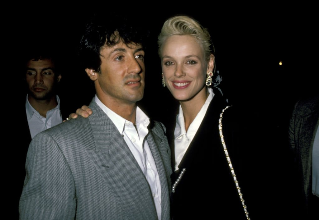 "Image Credits: Getty Images / Ron Galella, Ltd. / Ron Galella Collection | Sylvester Stallone and Brigitte Nielsen during ""Cuba & The Teddy Bear"" Performance - August 20, 1986 at Longacre Theater in New York City, New York, United States."