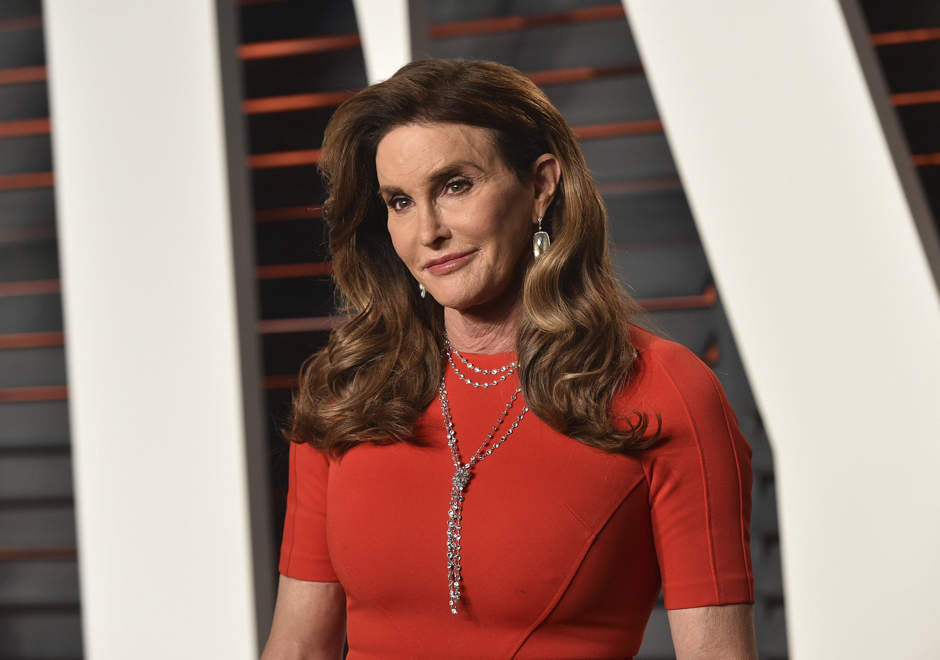Image Credits: Getty Images / John Shearer | TV personality Caitlyn Jenner arrives at the 2016 Vanity Fair Oscar Party Hosted By Graydon Carter at Wallis Annenberg Center for the Performing Arts on February 28, 2016 in Beverly Hills, California.