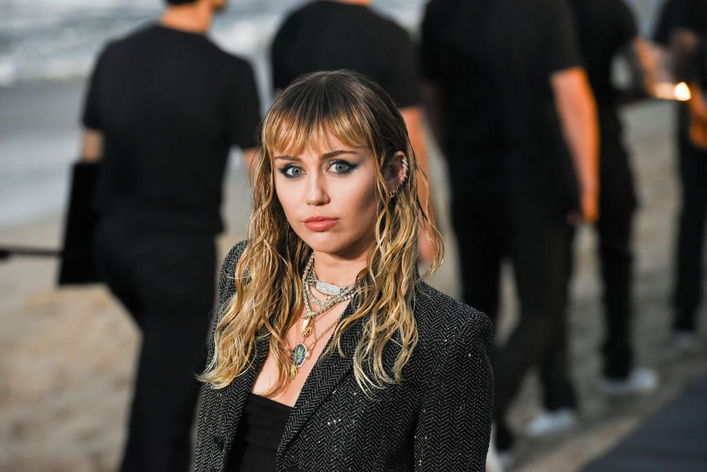 Image Credit: Getty Images / Miley Cyrus at Saint Laurent mens spring summer 20 show on June 06, 2019 in Malibu, California.