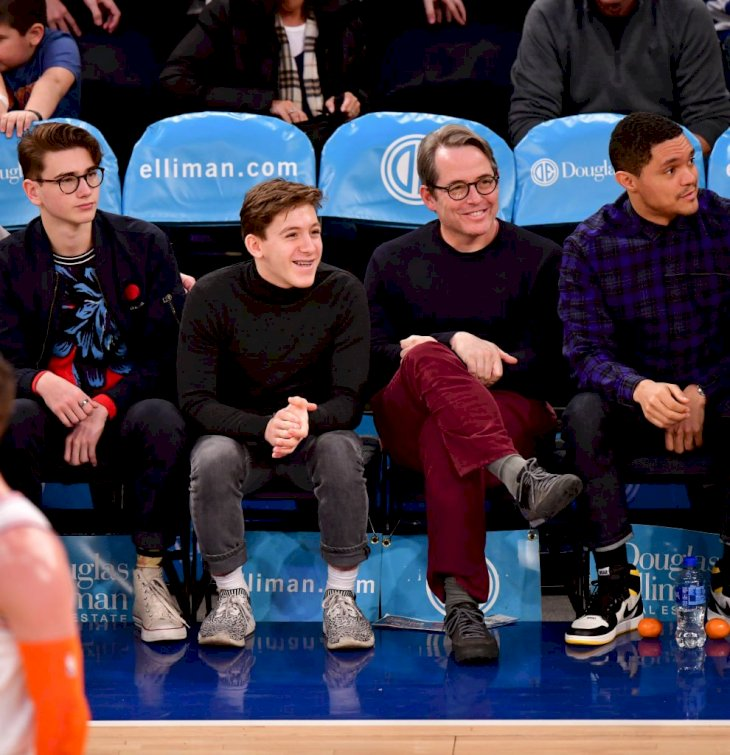Image Credits: Getty Images / James Devaney | James Broderick and Matthew Broderick attend Memphis Grizzlies v New York Knicks game at Madison Square Garden on February 3, 2019 in New York City.