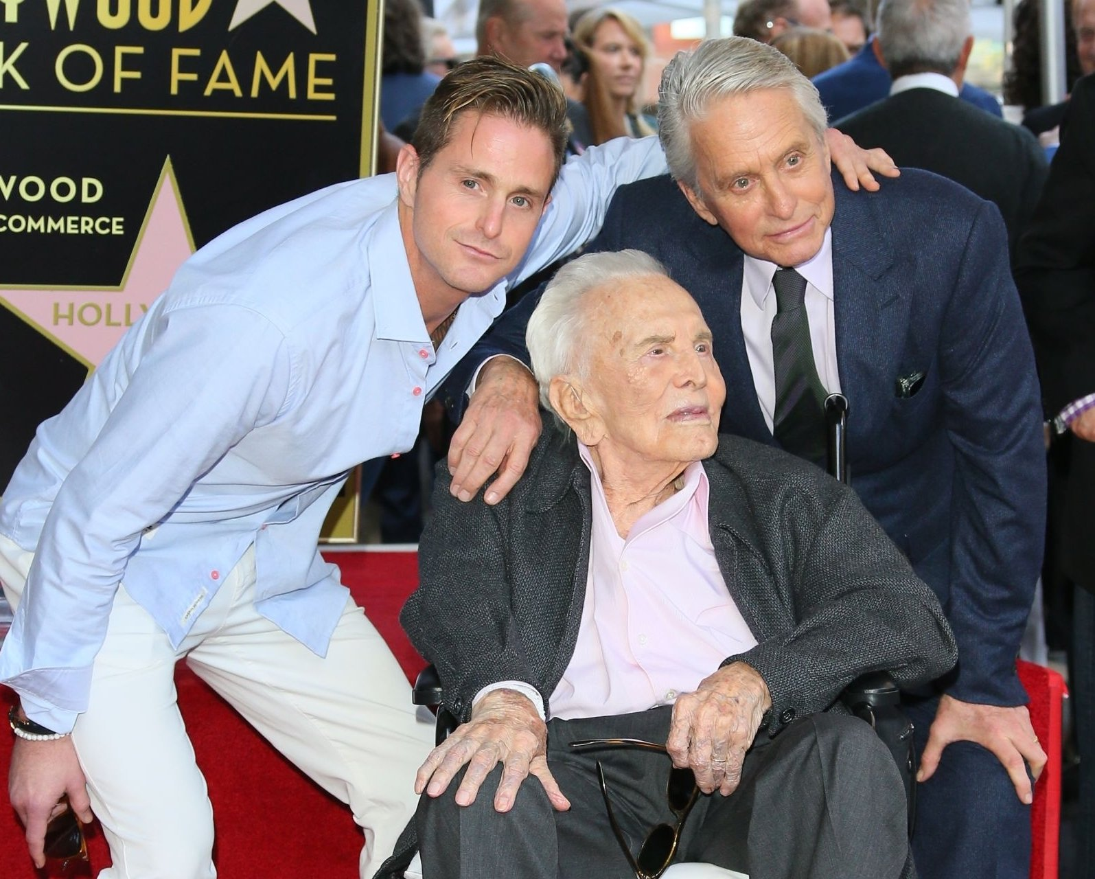 Image Credit: Getty Images/Michael Douglas with son and father