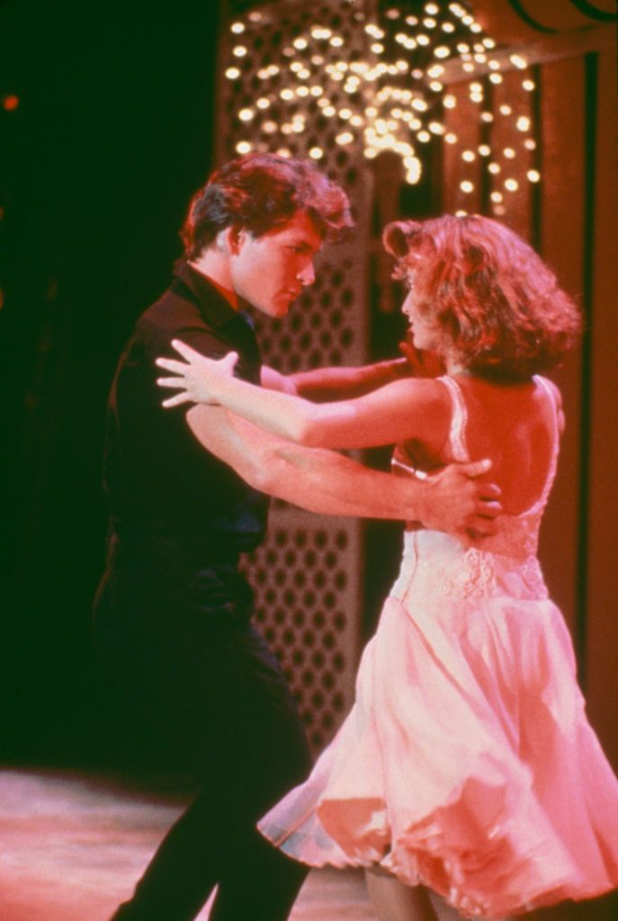 Actors Patrick Swayze (1952 - 2009) and Jennifer Grey star in the film 'Dirty Dancing', 1987. (Photo by /Getty Images)