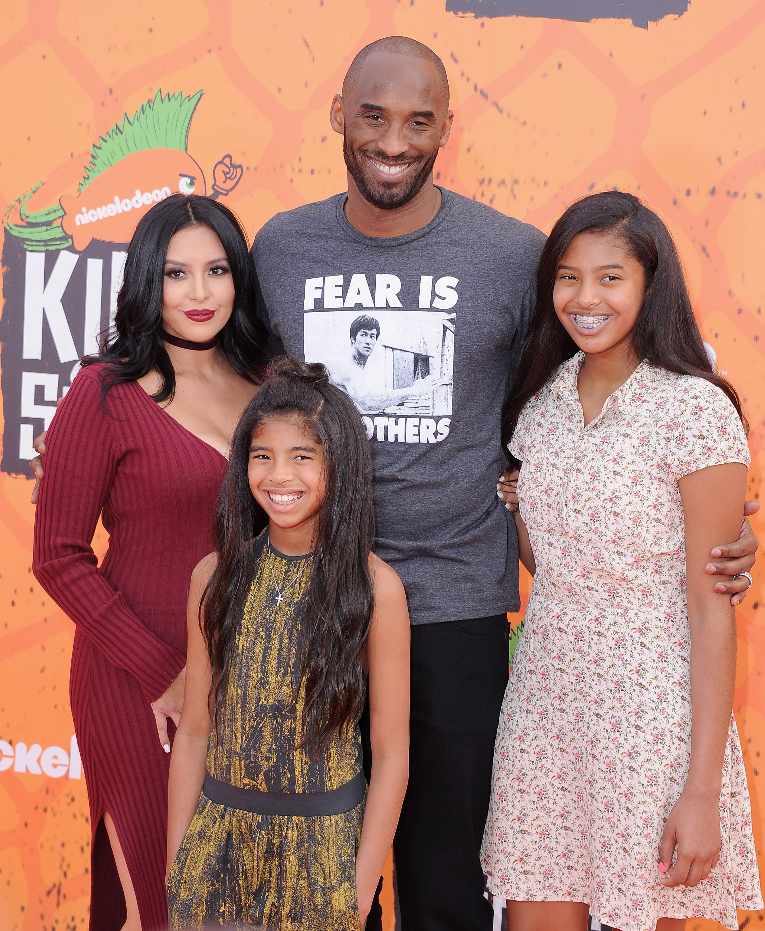 Image Source: Getty Images/Kobe and Vanessa with their daughters