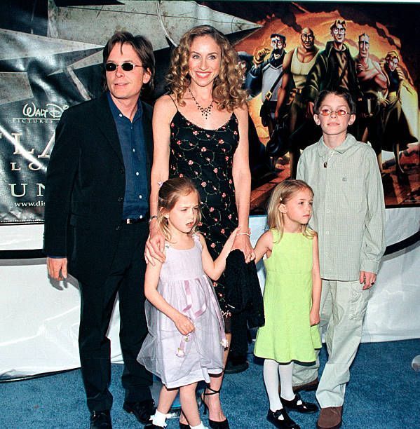 Michael J. Fox and Tracy Pollan with their children/Photo:Getty Images