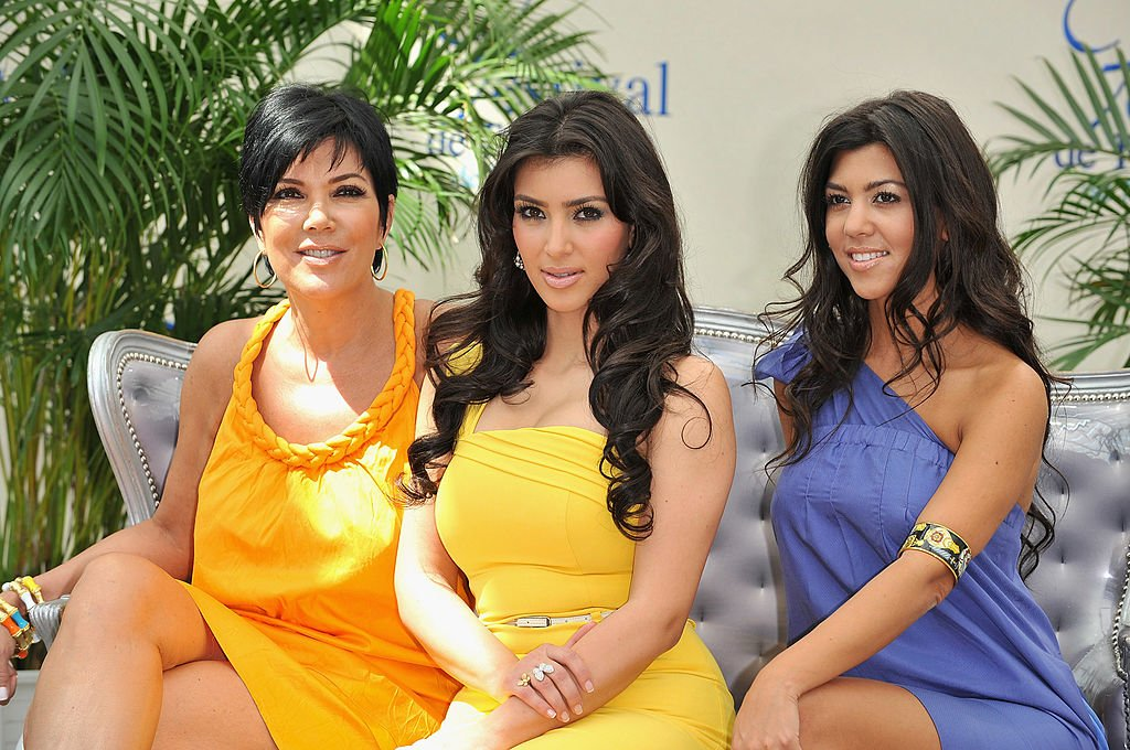 "Image Credit: Getty Images / Kim Kardashian (C) with her mother Kris (L) and sister Kourtney promoting the television series ""Keeping Up With the Kardashians"" during the 2008 Monte Carlo Television Festival."