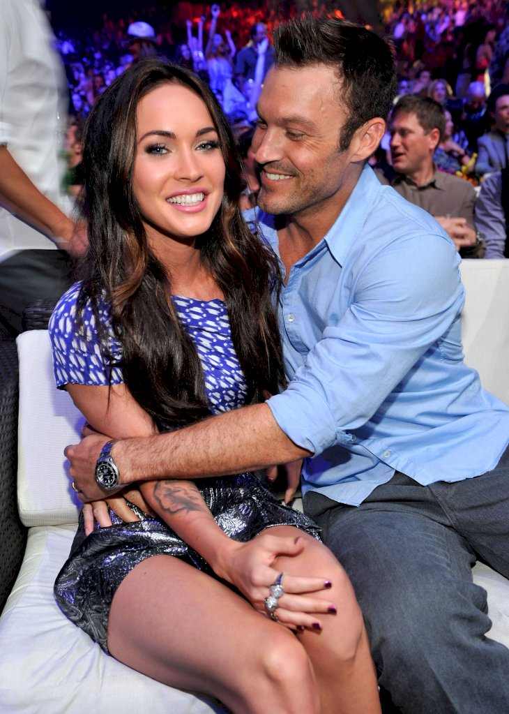 Megan Fox and Brian Austin Green attend the 2010 Teen Choice Awards / Getty Images