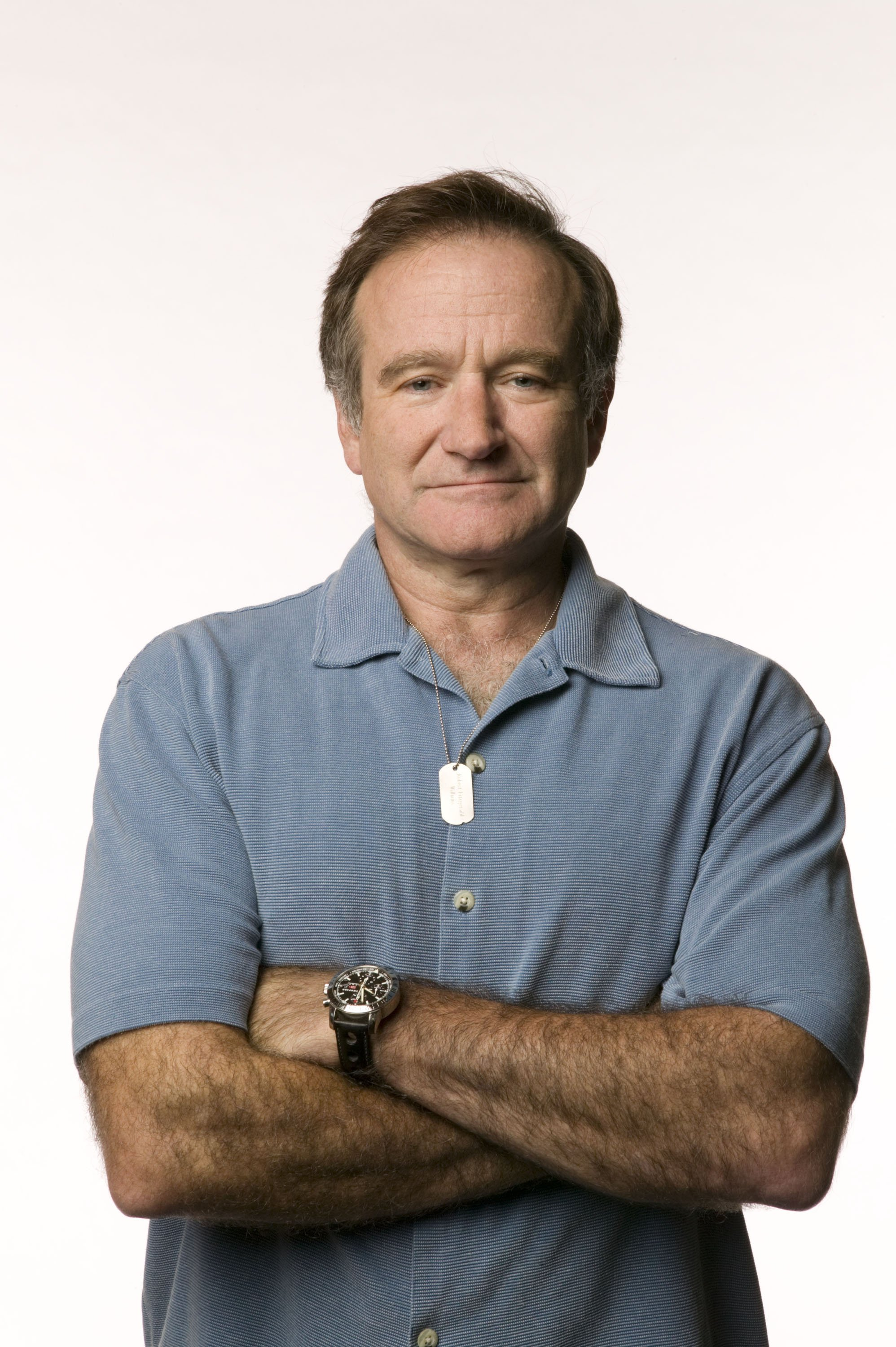 Image Credits: Getty Images / Caroline Schiff | Actor Robin Williams in a promotional portrait for the Search for the Cause campaign, which raises funds for cancer research.