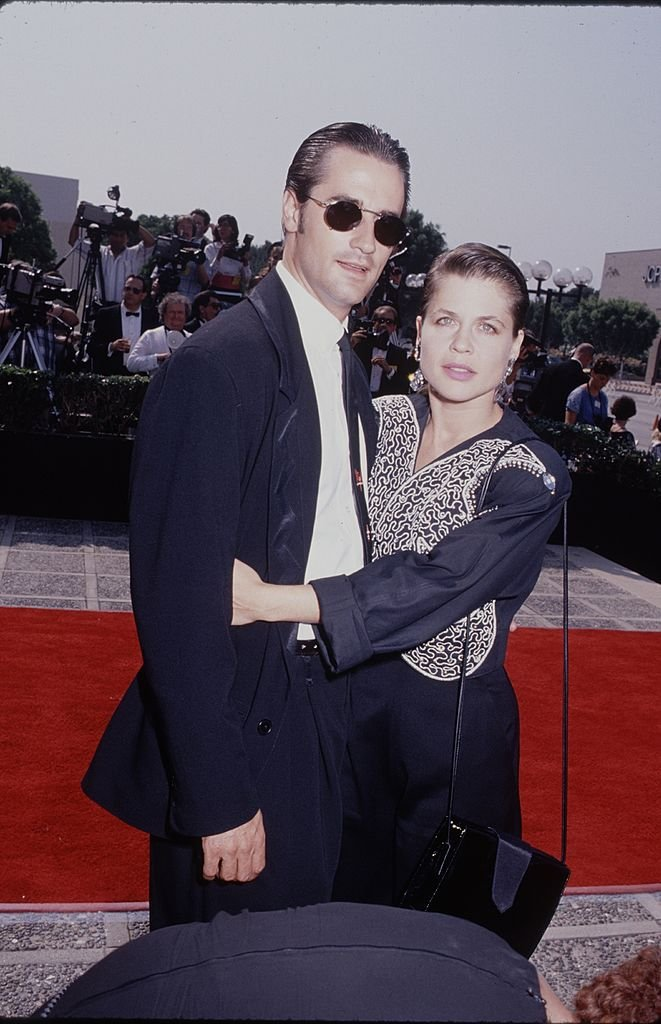 Image Credits: Getty Images / The LIFE Picture Collection | Actress Linda Hamilton with her husband, actor Bruce Abbott.