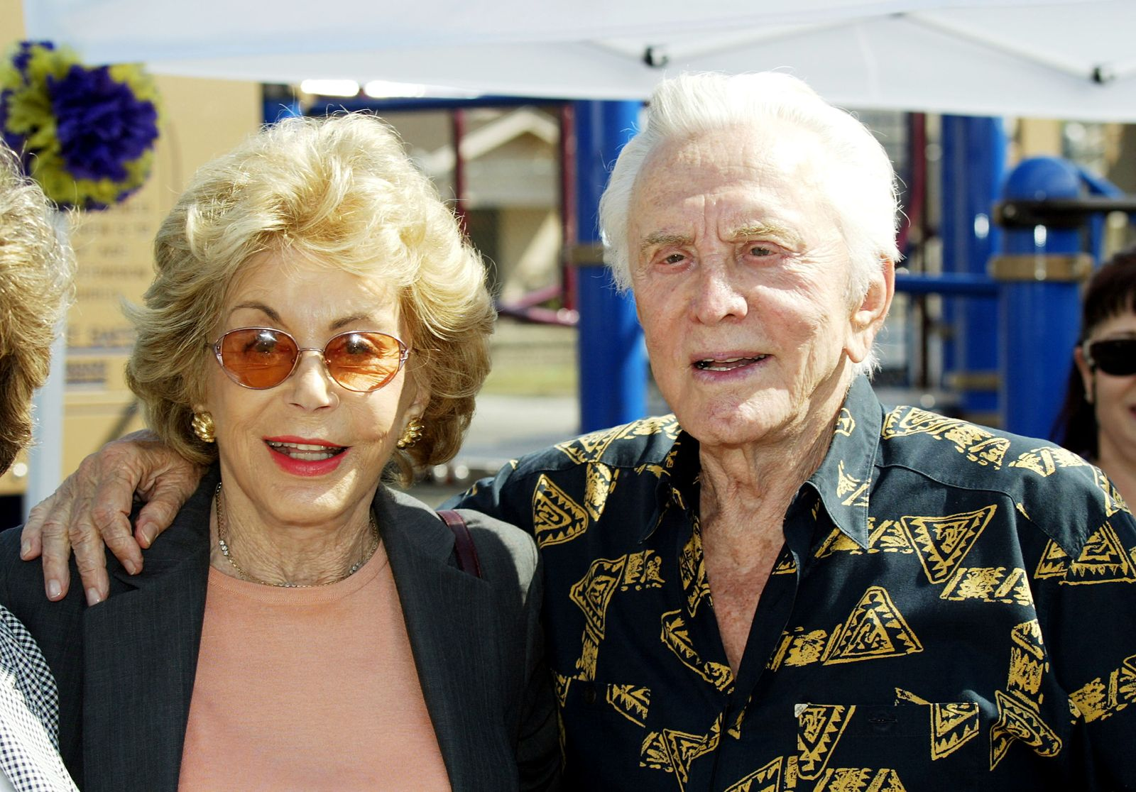 Kirk Douglas and Anne Buydens/Photo:Getty Images