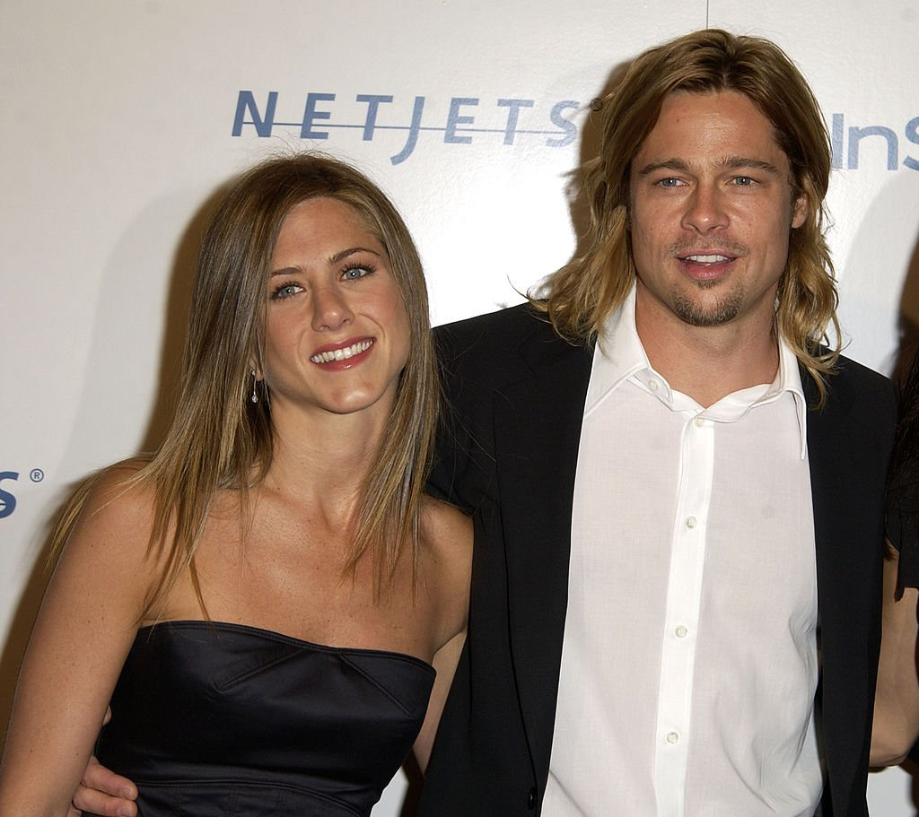 "Image Credit: Getty Images / Jennifer Aniston & Brad Pitt during Producer Brad Grey Honored at Project A.L.S. ""Friends Finding A Cure"" at Regent Beverly Wilshire Hotel in Beverly Hills."