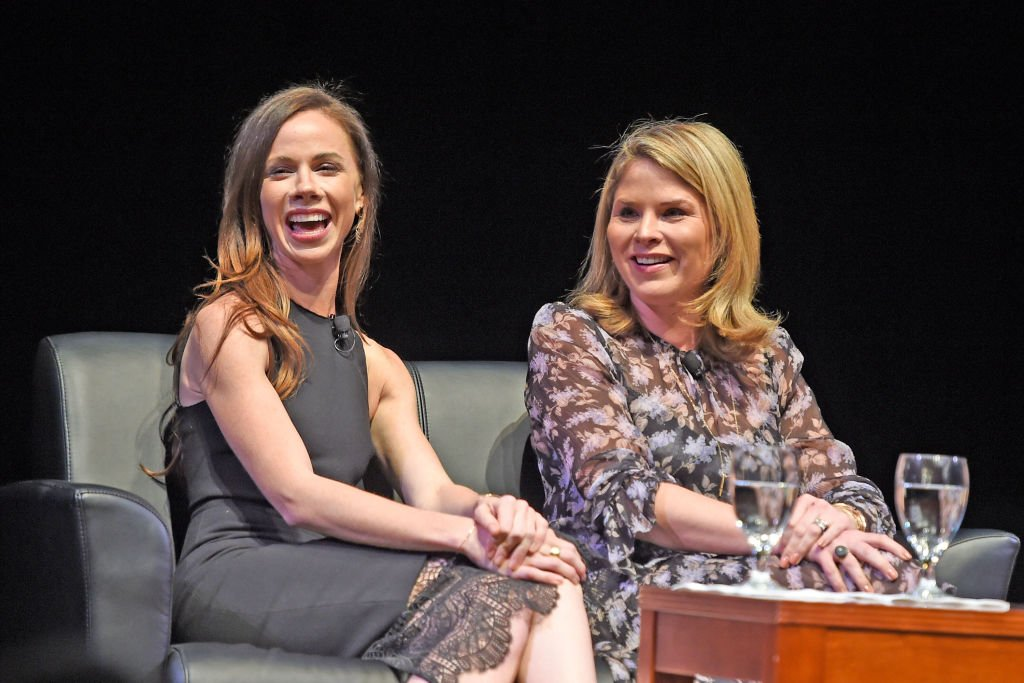 Image Credits: Getty Images / Stephen J. Cohen |  Barbara Pierce Bush and Jenna Bush Hager are interviewed by Emily Bingham during the Sisters First tour at Bomhard Theater on November 1, 2017 in Louisville, Kentucky.