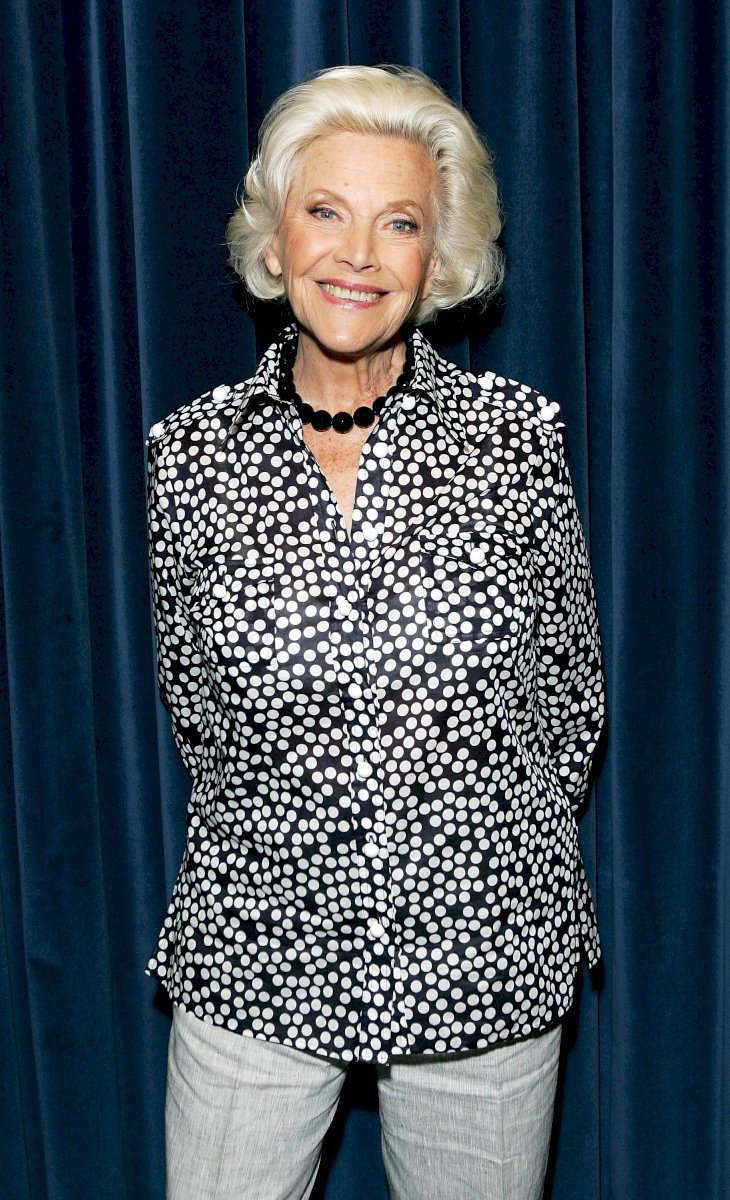 Image Credit: Getty Images / Honor Blackman at an event.