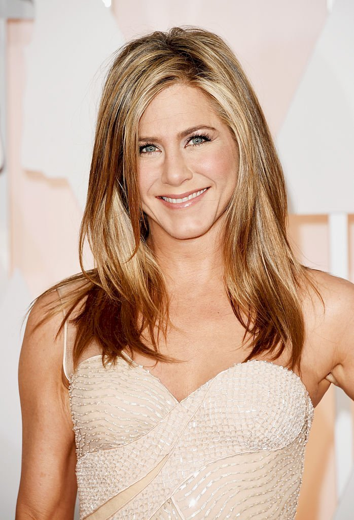 Image Credit: Getty Images/Jason Merritt | Jennifer Aniston attends the 87th Annual Academy Awards