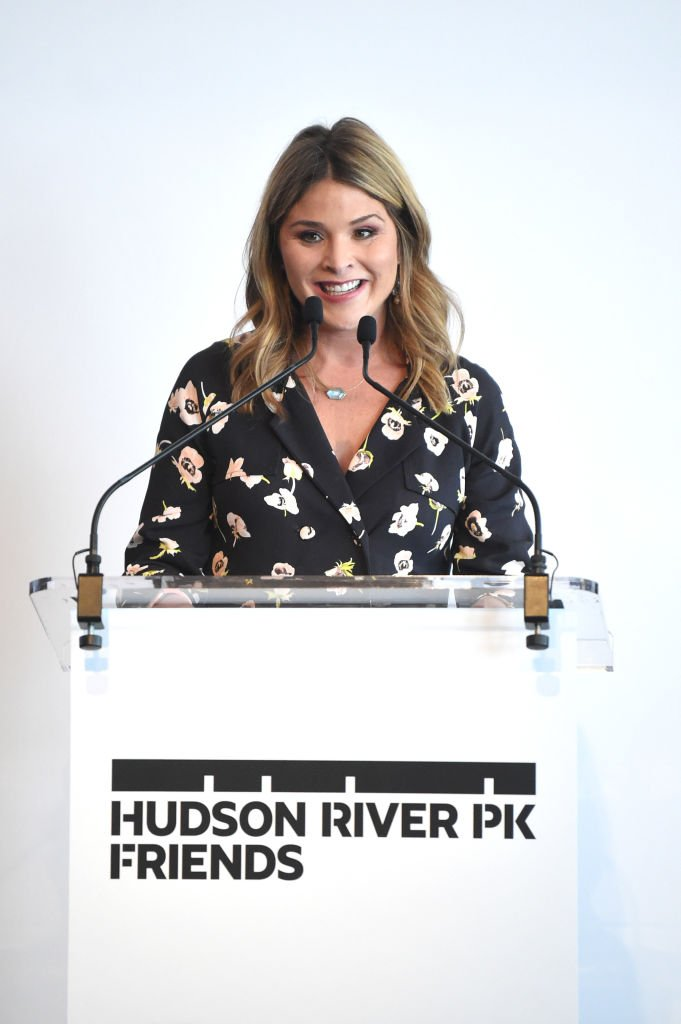 Image Credits: Getty Images / Jamie McCarthy | Jenna Bush Hager speaks on stage as she attends Hudson River Park Friends Playground Committee Fourth Annual Luncheon at Current at Chelsea Piers on January 25, 2019 in New York City.