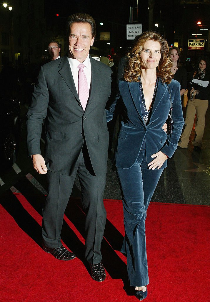 "Image Credits: Getty Images / Frederick M. Brown | (L-R) Governor Arnold Schwarzenegger and his wife Maria Shriver attend the film premiere of ""The Kid & I"" at The Mann Grauman's Chinese Theater on November 28, 2005 in Hollywood, California."