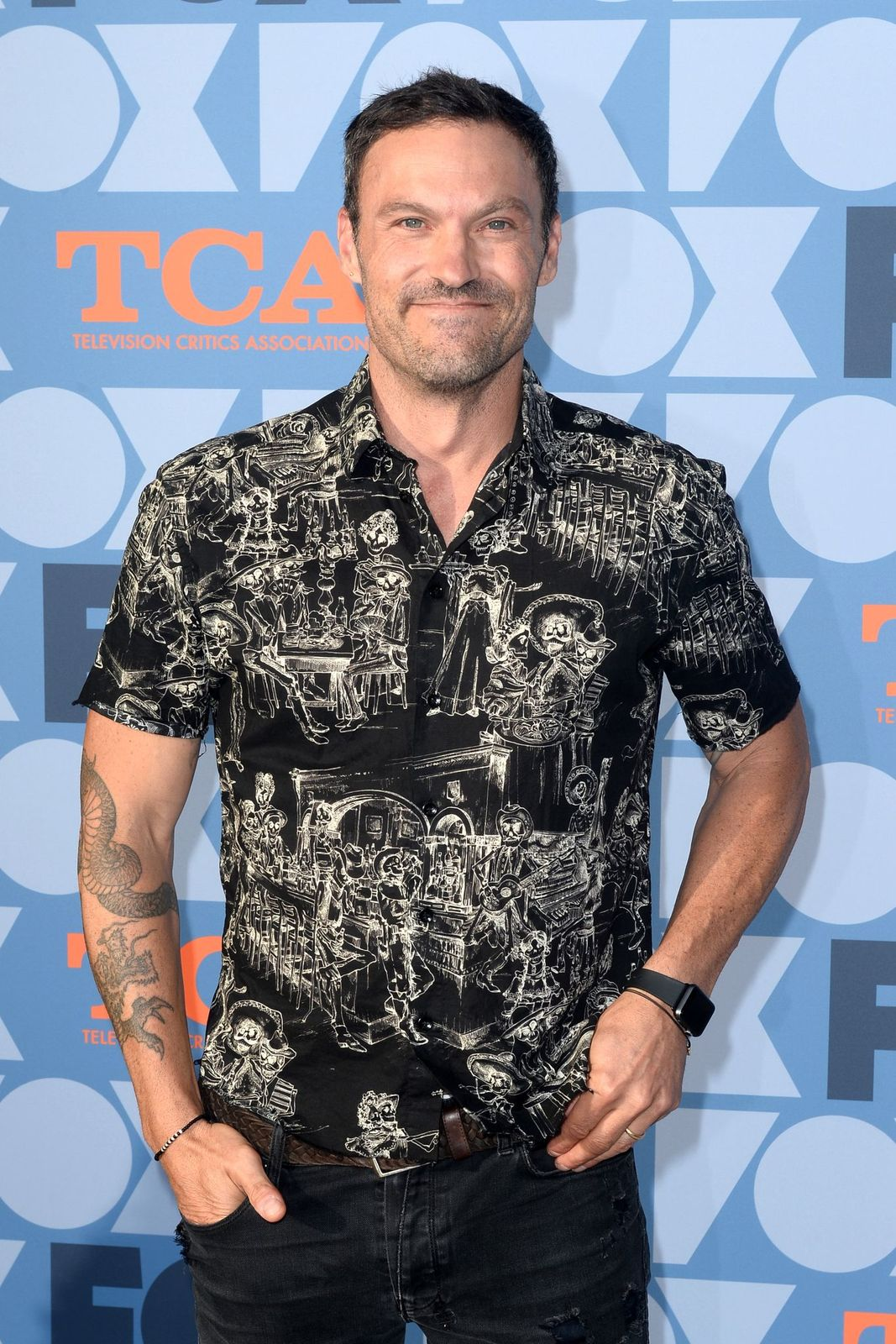 Brian Austin Green arrives at FOX Summer TCA 2019 All-Star Party at Fox Studios on 2019 in Los Angeles/Photo:Getty Images