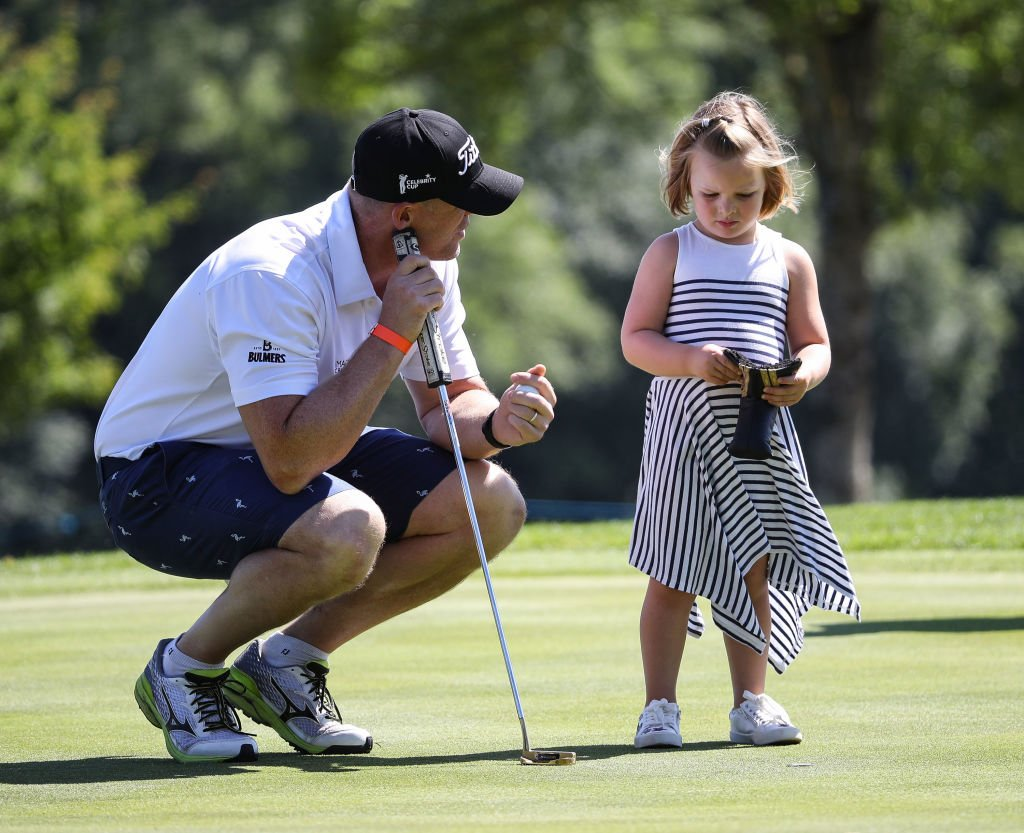 Image Credit: Getty Images / Mike Tindall and Mia Tindall during the 2018 'Celebrity Cup' at Celtic Manor Resort on June 30, 2018 in Newport, Wales.