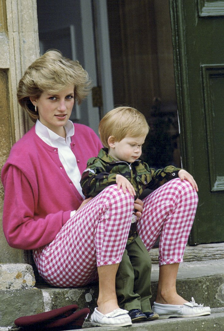 Image Credit: Getty Images / Prince Harry with his mother, Princess Diana.