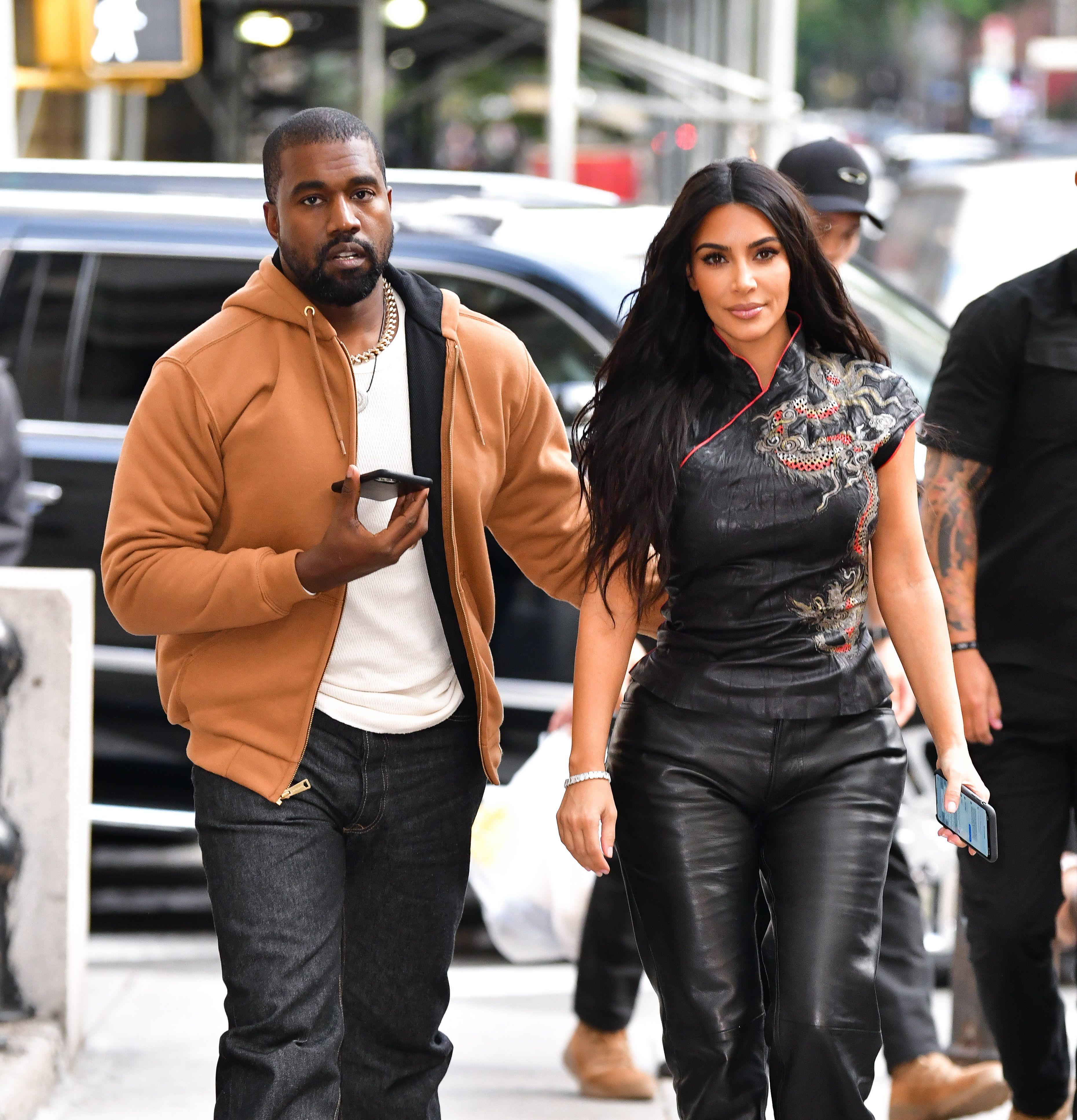 Kim Kardashian and her husband Kanye West / Getty Images