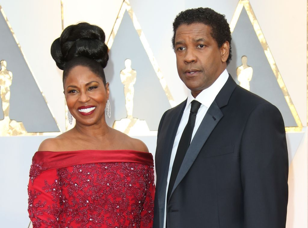 Denzel Washington (R) and Pauletta Washington arrive at the 89th Annual Academy Awards at Hollywood & Highland Center,2017 in Hollywood/Photo:Getty Images