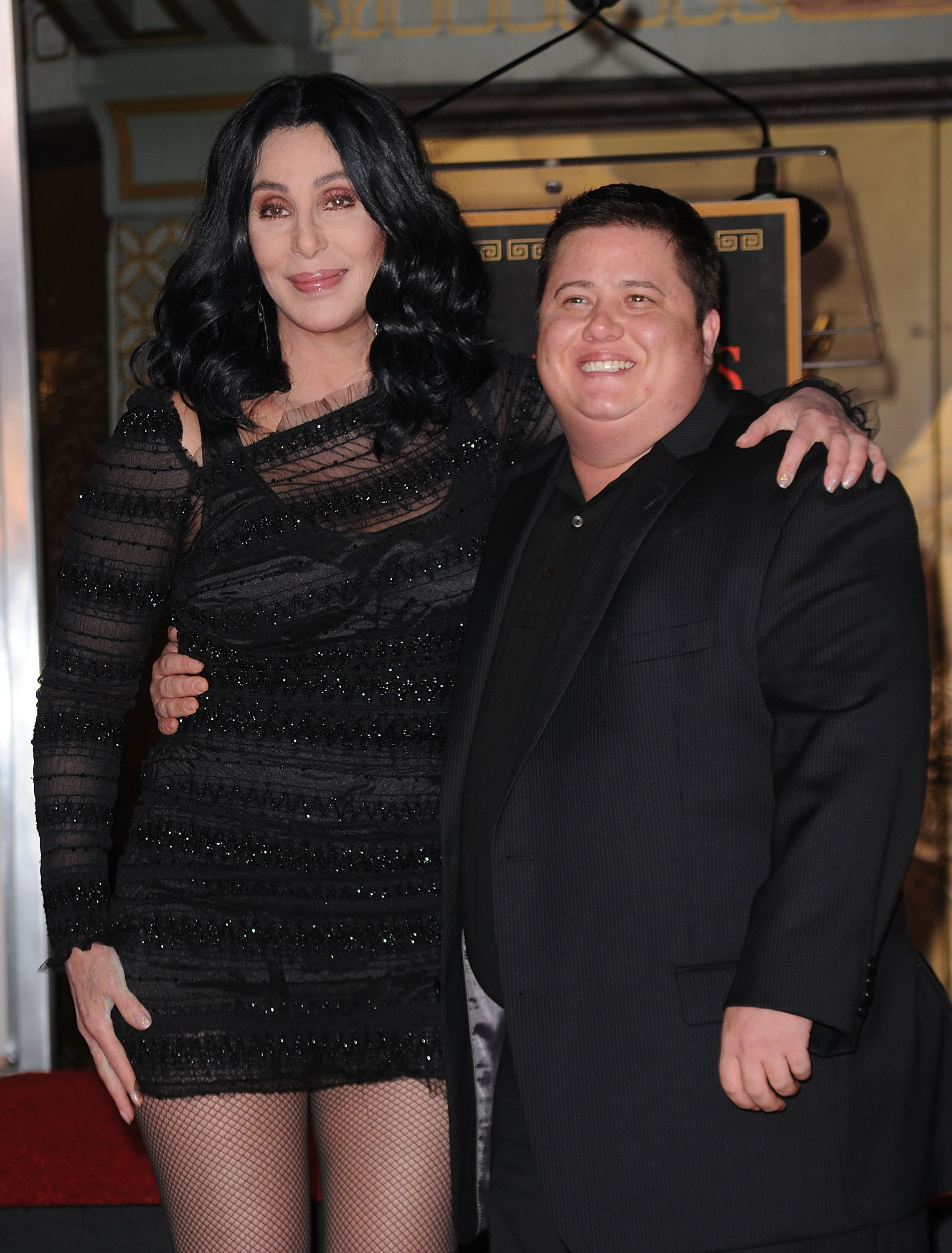 Image Source: Getty Images/Cher and her son Chaz