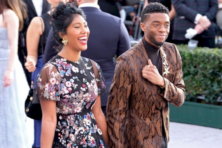 Image Credits: Getty Images / Taylor Simone Ledward and Chadwick Boseman at the 25th annual Screen Actors Guild Awards