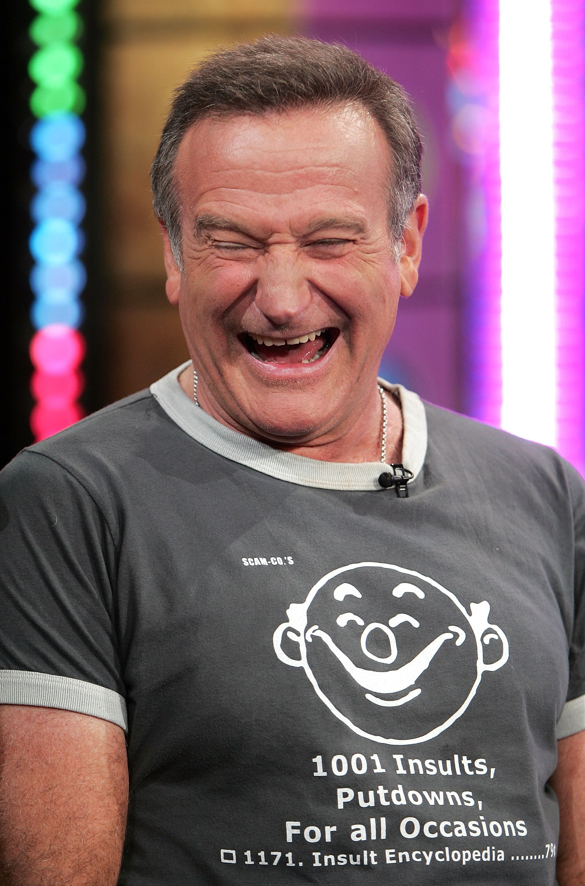 Image Credits: Getty Images / Scott Gries | Actor Robin Williams appears onstage during MTV's Total Request Live at the MTV Times Square Studios on November 14, 2006 in New York City.