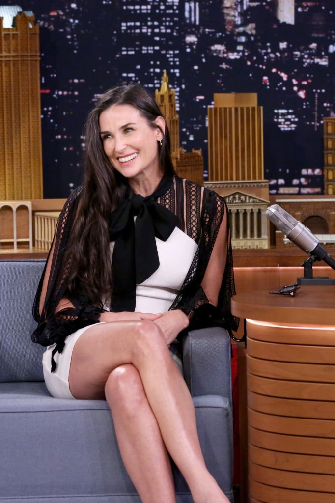 Image Credits: Getty Images / Andrew Lipovsky / NBCU Photo Bank / NBCUniversal | Actor Demi Moore during an interview on June 12, 2017.