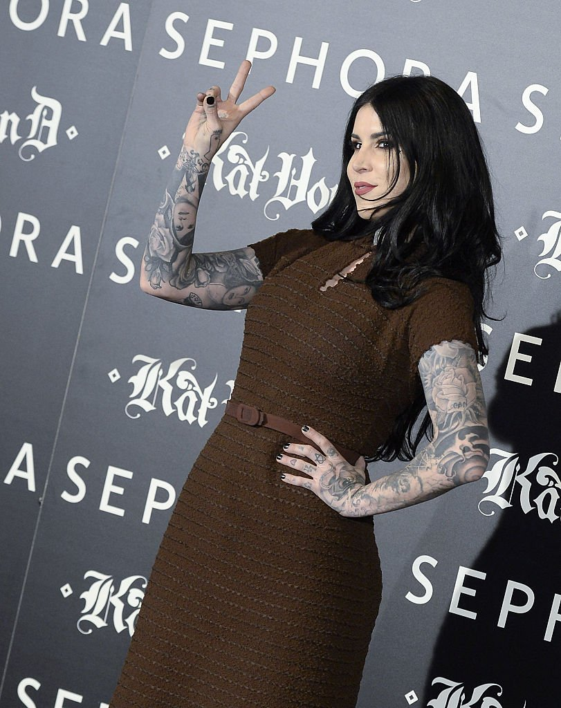Image Credits: Getty Images / Fotonoticias / WireImage | Kat Von D attends the launch of the 'Kat Von D Beauty' make up collection at Callao Cinema on October 7, 2015 in Madrid, Spain.