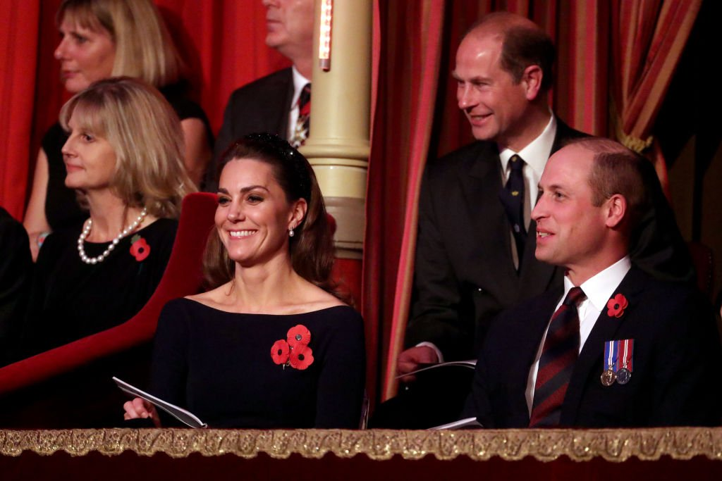 Image Credit: Getty Images / Catherine, Duchess of Cambridge, Prince William, Duke of Cambridge and Prince Edward, Earl of Wessex attend the annual Royal British Legion Festival of Remembrance at the Royal Albert Hall on November 09, 2019 in London, England.