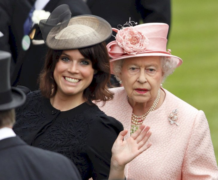 Image Credit: Getty Images / Princess Eugenie with her grandmother, Queen Elizabeth II.