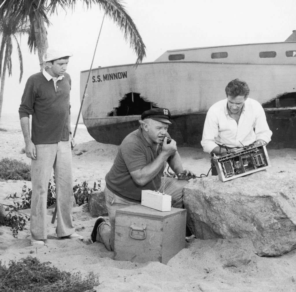 Image Credit: Getty Images / Circa 1966, American actors, left to right, Bob Denver, Alan Hale Jr. (1918-1990) and Russell Johnson attempt to use a homemade CB radio to contact civilization in a still from the television comedy show 'Gilligan's Island'.