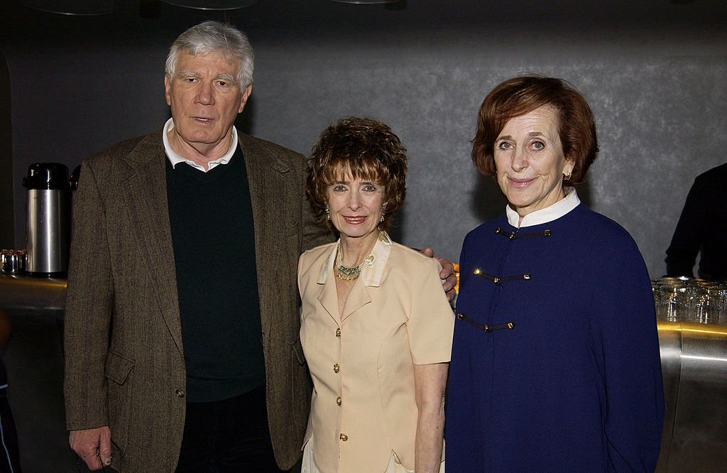 "Actor Mitchell Ryan, actress Margaret O'Brien, SAG Foundation executive director Marcia Smith pose for a photograph during the Screen Actors Guild's ""Conversations - For Kids"" at the Pacific Design Center April 26, 2003 