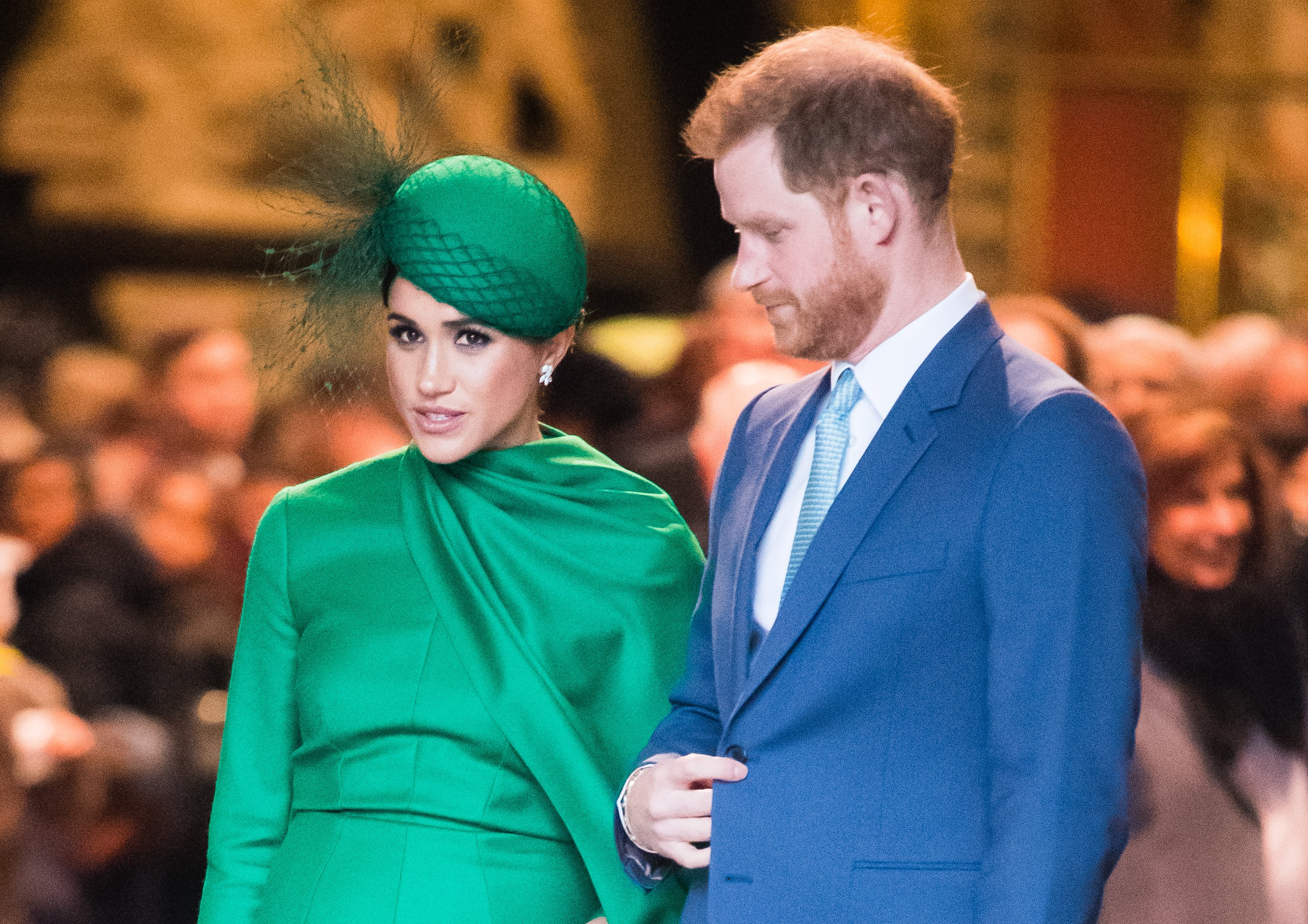 Image Credit: Getty Images / Prince Harry, Duhcess of Sussex and Meghan, Duchess of Sussex attend the Commonwealth Day Service 2020 on March 09, 2020 in London, England.