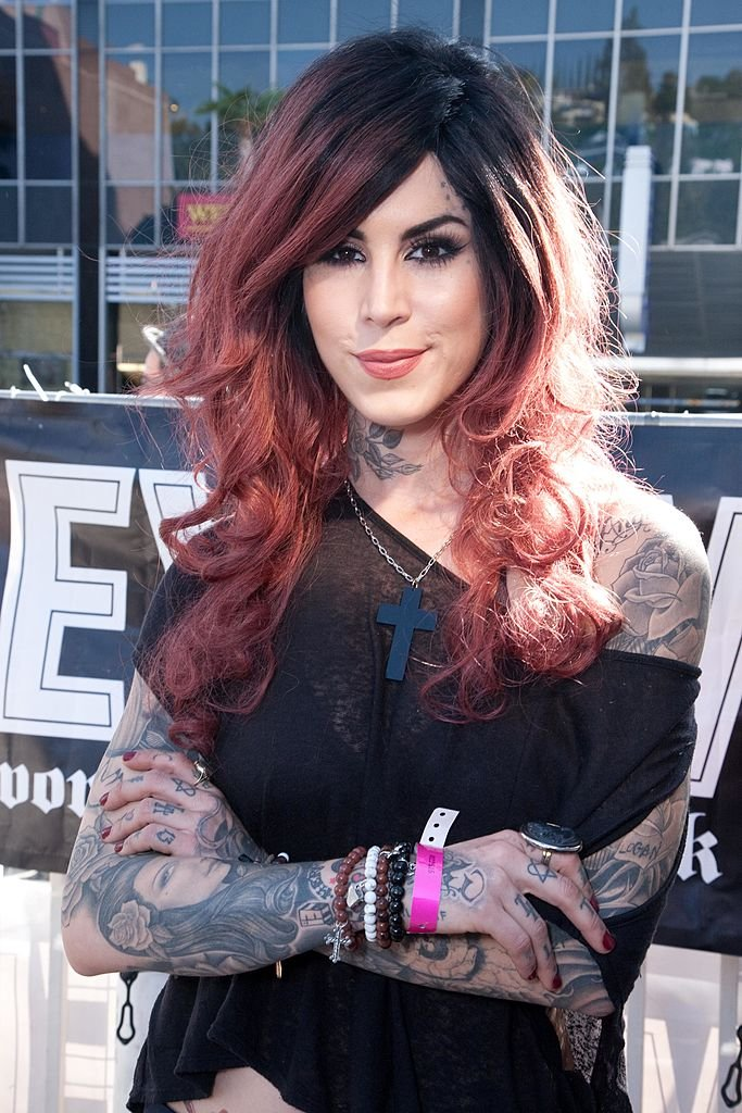 Image Credits: Getty Images / Tiffany Rose / WireImage | Kat Von D of LA Ink attends the 2nd Annual Golden Gods Awards Nominees and Press Conference at The Rainbow Bar and Grill on February 17, 2010 in Los Angeles, California.