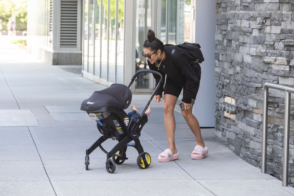 Image Credit: Getty Images / Shay Mitchell is seen walking on July 29, 2020 in Vancouver, Canada.