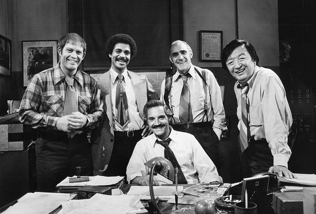 Image Credit: Getty Images / Max Gail, Ron Glass, Hal Linden, Abe Vigoda, Jack Soo on set for Barney Miller.