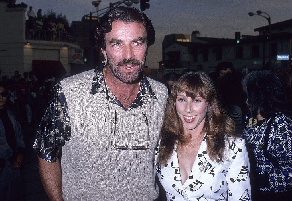 "Image Credits: Getty Images / Ron Galella | Actor Tom Selleck and wife Jillie Mack attend the ""Batman"" Westwood Premiere on June 19, 1989."