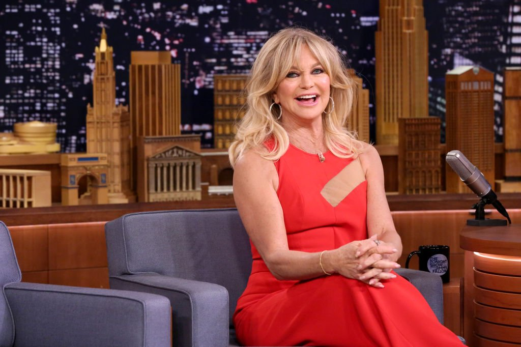 Image Credit: Getty Images / Actress Goldie Hawn during an interview on May 1, 2017 with Jimmy Fallon.