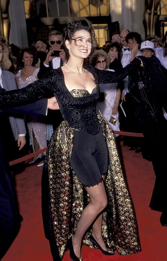 Image Credits: Getty Images / Jim Smeal / Ron Galella Collection | Demi Moore at the 61st Annual Academy Awards.