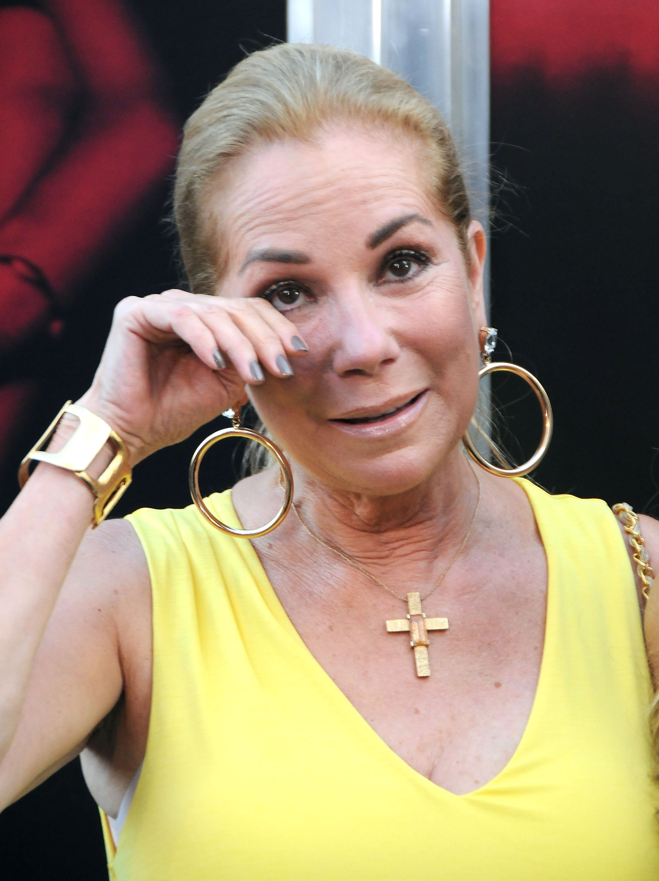Image Credits: Getty Images / Barry King | TV personality Kathie Lee Gifford attends the Premiere Of New Line Cinema's 'The Gallows' at Hollywood High School on July 7, 2015 in Los Angeles, California.