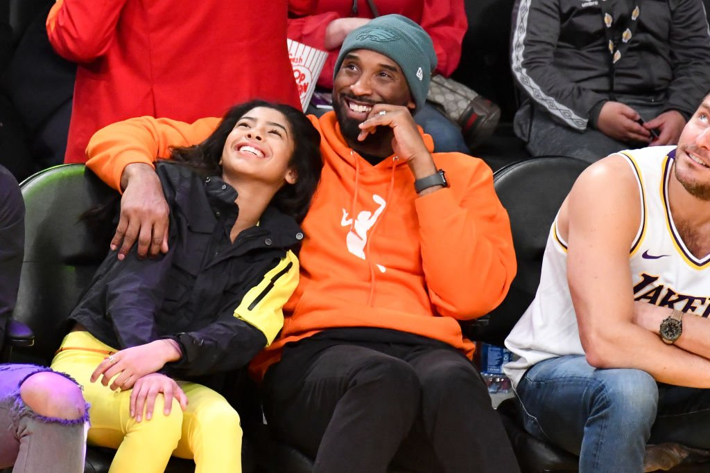 Image Credit: Getty Images / Kobe Bryant and daughter Gianna Bryant attend a basketball game between the Los Angeles Lakers and the Dallas Mavericks at Staples Center on December 29, 2019.