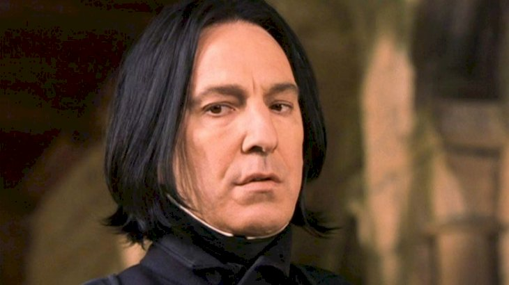 Actor Alan Rickman as Professor Severus Snape | Source: Image credit: Twitter/FireWillow777