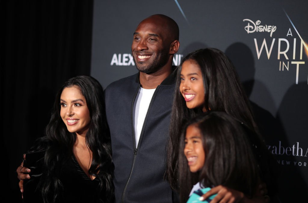 "Image Credit: Getty Images / Kobe Bryant (2nd L) and his family attend the premiere of Disney's ""A Wrinkle In Time"" at the El Capitan Theatre on February 26, 2018."
